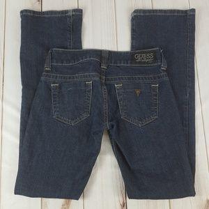 Womens GUESS Daredevil Bootcut Blue Denim Jeans 24